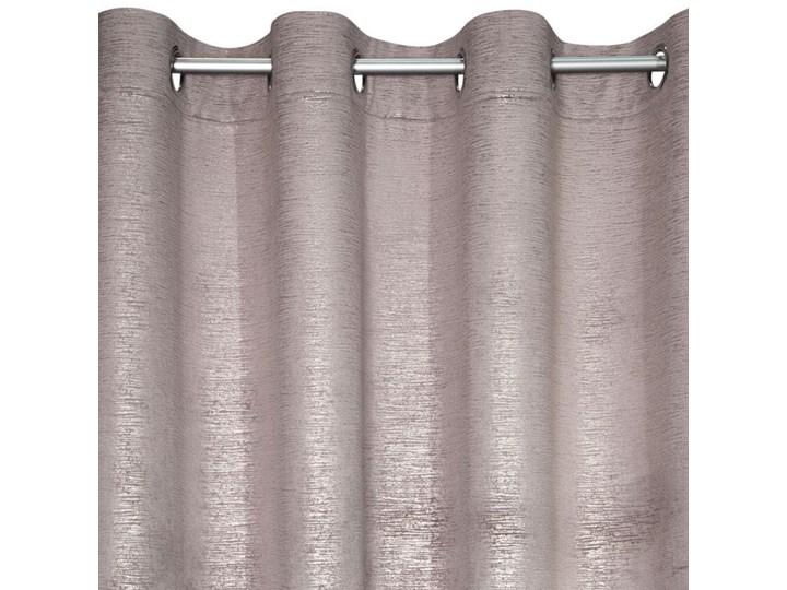 Jednokolorowa Zasłona Mabel 140x250cm - Różowy - Przelotki 140x250 cm Poliester Mocowanie Kółka