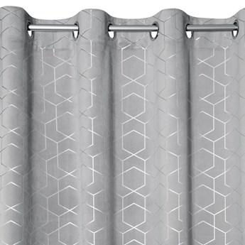 Nowoczesna Zasłona Mandi 135x250cm - Srebrny - Przelotki