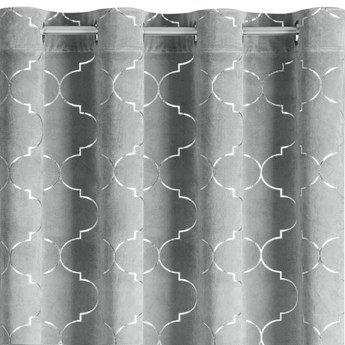 Zasłona z wzorem marokańskiej koniczyny Gisel - 140x250cm - Przelotki