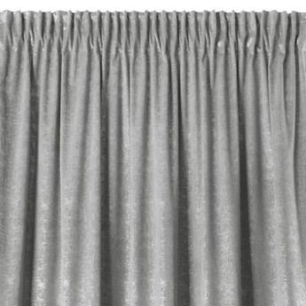Zasłona Welwetowa Cypr 140x270cm - Srebrny - Taśma