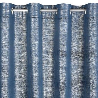 Jednokolorowa Zasłona Mabel 140x250cm - Ciemny Zielony - Przelotki