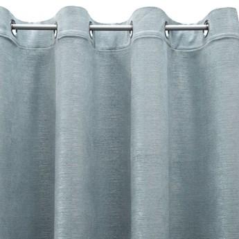 Jednokolorowa Zasłona Mabel 140x250cm - Niebieski - Przelotki