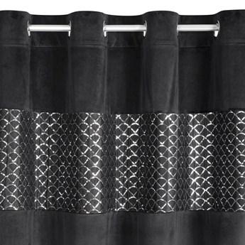 Zasłona Welwetowa Margot 140x250cm - Czarny