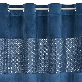 Zasłona Welwetowa Margot 140x250cm - Niebieski