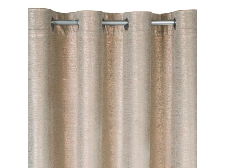 Zasłona Welwetowa Ambi 140x250cm - Ciemny Beżowy - Przelotki
