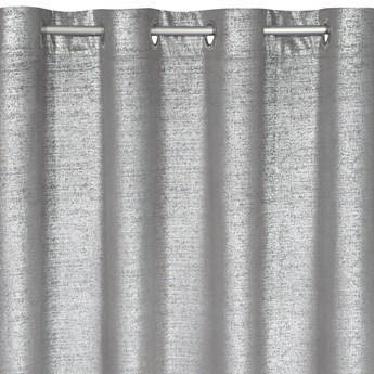 Zasłona Welwetowa Ambi 140x250cm - Srebrny - Przelotki