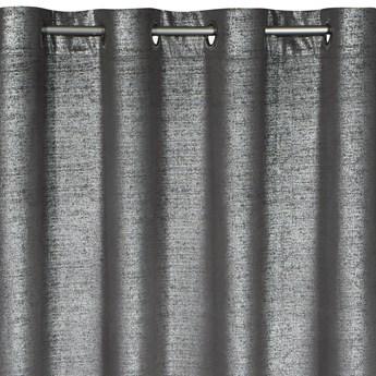 Zasłona Welwetowa Ambi 140x250cm - Srebrny/Stalowy - Przelotki