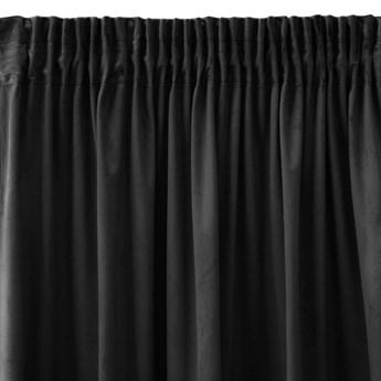 Pierre Cardin zasłona welwetowa 140x270cm - Czarny - Taśma