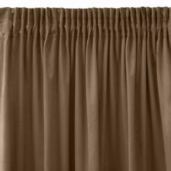 Pierre Cardin zasłona welwetowa 140x270cm - Brązowy - Taśma