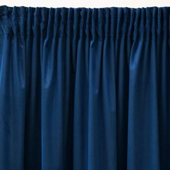 Pierre Cardin zasłona welwetowa 140x270cm - Granatowy - Taśma