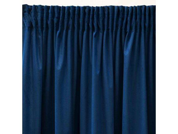 Pierre Cardin zasłona welwetowa 140x270cm - Granatowy - Taśma Poliester Wzór Gładkie 140x270 cm Mocowanie Tunel