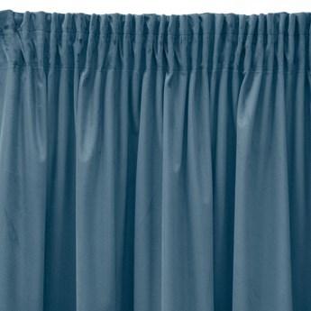 Pierre Cardin zasłona welwetowa 140x270cm - Niebieski - Taśma