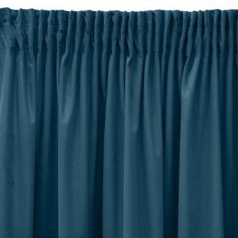 Pierre Cardin zasłona welwetowa 140x270cm - Ciemny Niebieski - Taśma