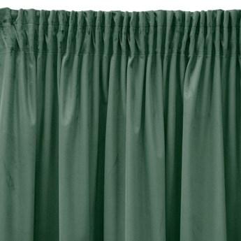 Pierre Cardin zasłona welwetowa 140x270cm - Ciemna Mięta - Taśma