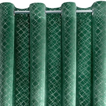 Zasłona Welwetowa Moly 140x250cm - Ciemny Zielony - Przelotki