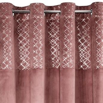 Zasłona Welwetowa Suzi 140x250cm - Ciemny Różowy - Przelotki