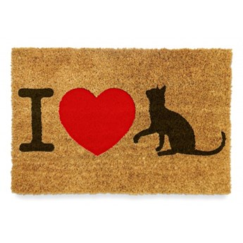 """Wycieraczka pod drzwi """"I LOVE CATS"""""""