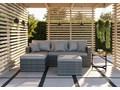 Szare meble ogrodowe z rattanu 1031 Zestawy wypoczynkowe Zawartość zestawu Narożnik