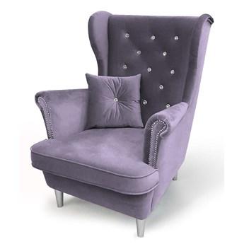Fotel do salonu Glamour Uszak 6 z kryształkami