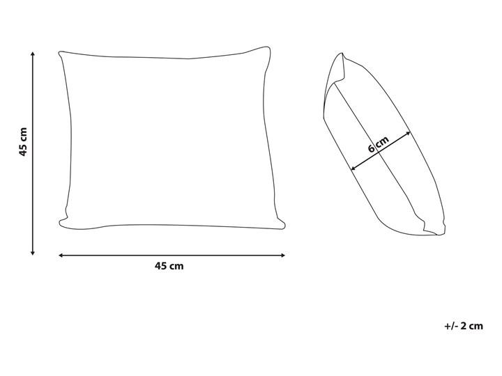 Zestaw 2 poduszek dekoracyjnych beżowe z nadrukiem w motyle 45 x 45 cm z wypełnieniem ozdoba akcesoria salon sypialnia Poszewka dekoracyjna Bawełna Len 45x45 cm Poliester Kwadratowe Wzór Roślinny