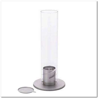 Hoefats - Kominek stołowy - Spin 120 - srebrny