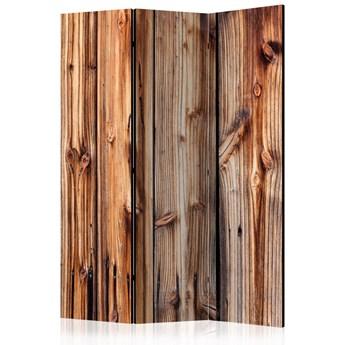 Parawan 3-częściowy - Drewniana komnata [Room Dividers]