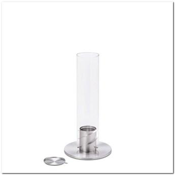 Hoefats - Kominek stołowy - Spin 90 - srebrny