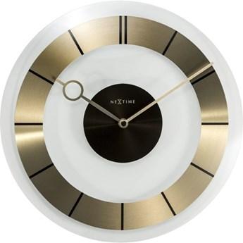 NeXtime - Zegar ścienny Retro - złoty - 31 cm