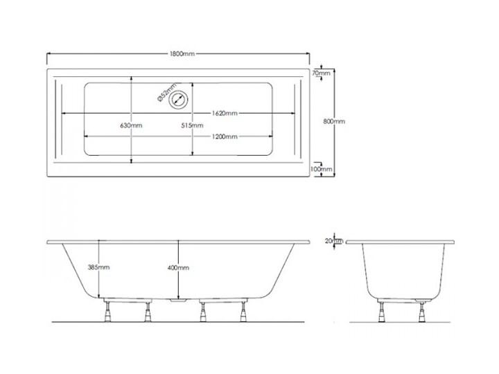Schedpol Vella wanna prostokątna 180x80 cm 3WSP.V1P-18080 Kompozyt Symetryczne Kategoria Wanny