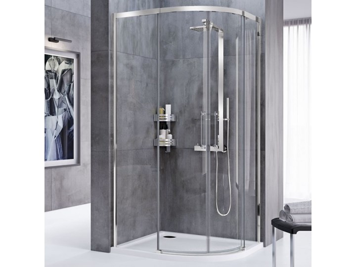 Novellini Rose Rosse kabina prysznicowa półokrągła 80 cm ROSER80-1K Wysokość 200 cm Narożna Rodzaj drzwi Rozsuwane