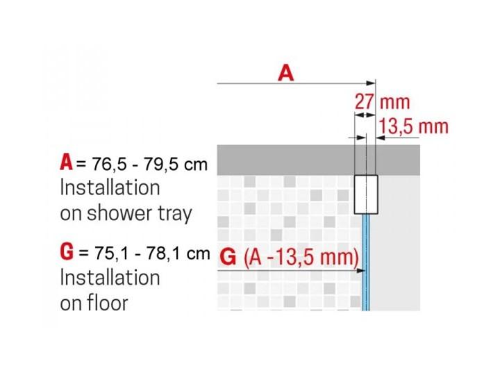 Novellini Rose Rosse kabina prysznicowa półokrągła 80 cm ROSER80-1K Wysokość 200 cm Narożna Rodzaj drzwi Rozsuwane Kategoria Kabiny prysznicowe