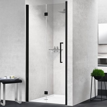 Novellini Young 2.0 1BS drzwi prysznicowe 100 cm lewe czarny mat Y21BS97S1H