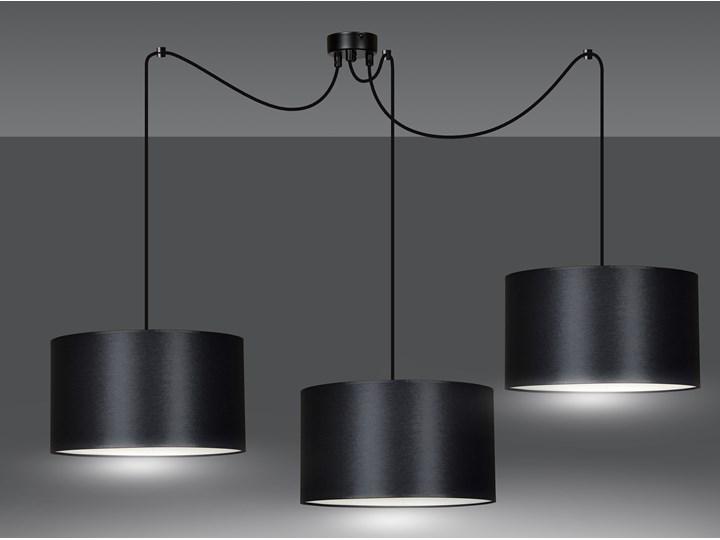 ROTO 3 BLACK 186/3 lampa wisząca czarna z abażurem biały środek Lampa z abażurem Metal Ilość źródeł światła 3 źródła