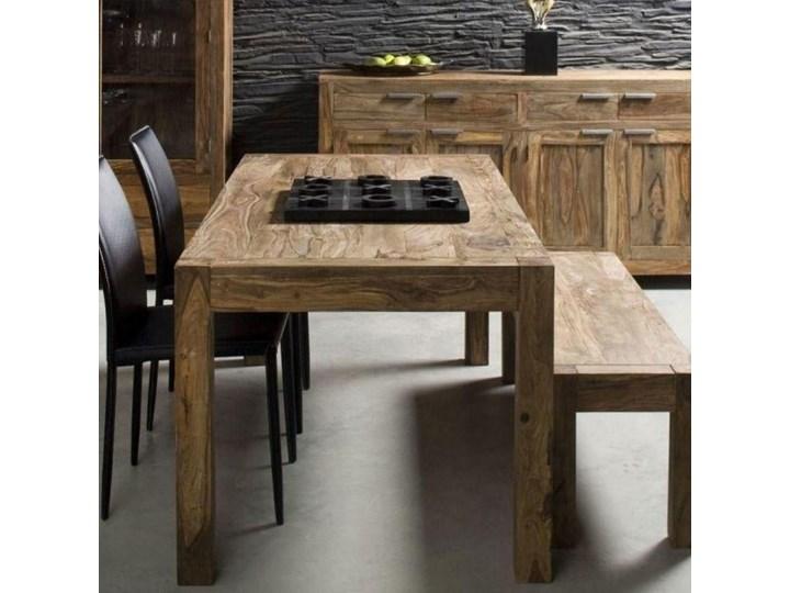 Stół Authentico 160x80 cm brązowy Szerokość 160 cm Drewno Wysokość 75 cm Styl Nowoczesny Długość 160 cm  Rozkładanie