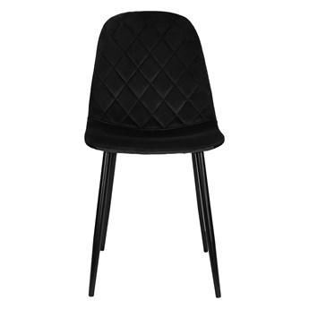 Nowoczesne krzesło tapicerowane DC-1916 czarny welur #66