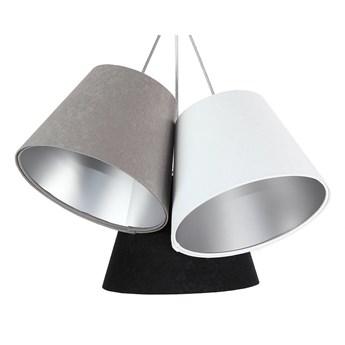 Potrójna szaro-biało-czarna z srebrnym wnętrzem lampa wisząca Selena