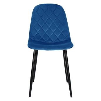 Krzesło tapicerowane do jadalni w kolorze niebieskim DC-1916 welur #64