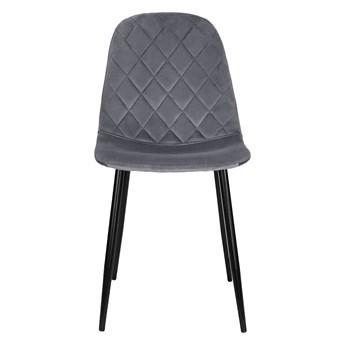 Krzesło tapicerowane do jadalni w kolorze jasnoszarym DC-1916 welur #23