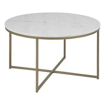 Okrągły marmurowy stolik kawowy do salonu - Herto