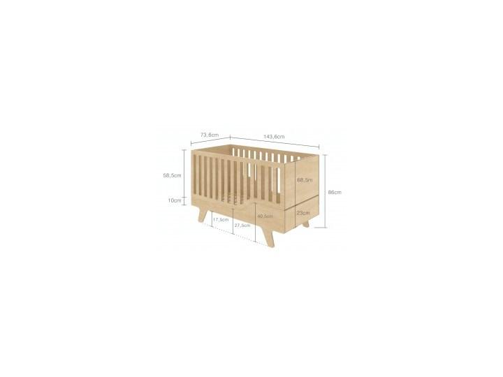 ŁÓŻECZKO DREAM szare Łóżeczka drewniane Rozmiar materaca 70x140 cm Płyta MDF Kategoria