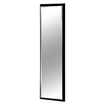 Nowoczesne fazowane lustro w czarnej ramie 60 x 160 cm 12F-390