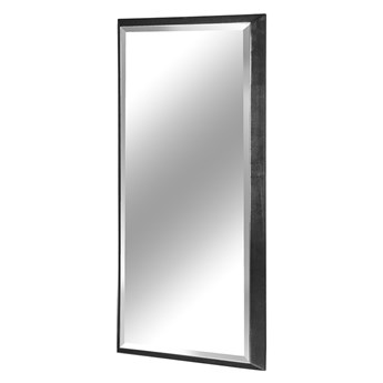 Nowoczesne fazowane lustro w czarnej ramie 80 x 180 cm 12F-390