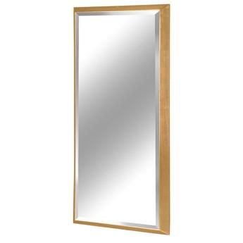 Nowoczesne fazowane lustro w złotej ramie 80 x 180 cm 12F-390