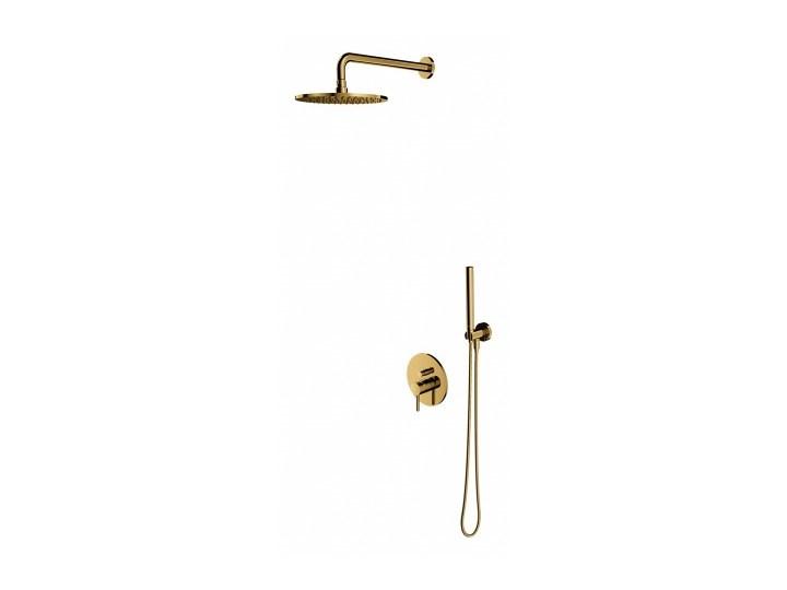 Zestaw prysznicowy Y podtynkowy z deszczownicą złoty SYSY19GL