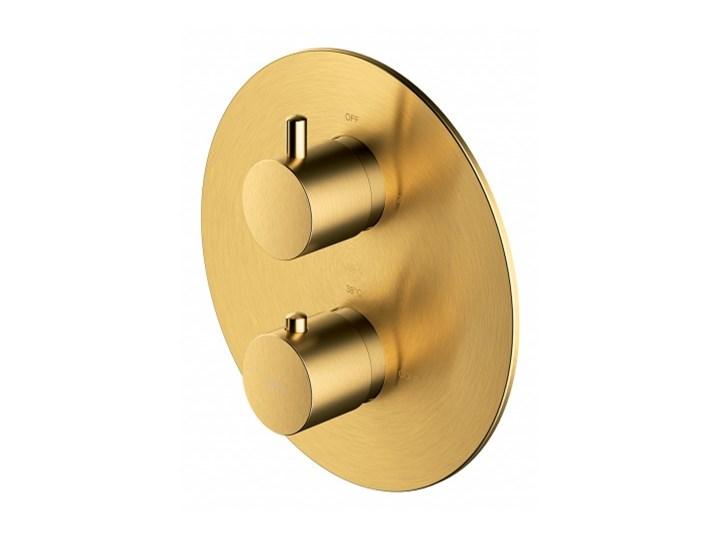 Bateria wannowo-prysznicowa Y podtynkowa termostatyczna złoto szczotkowane Y1236ROGLB