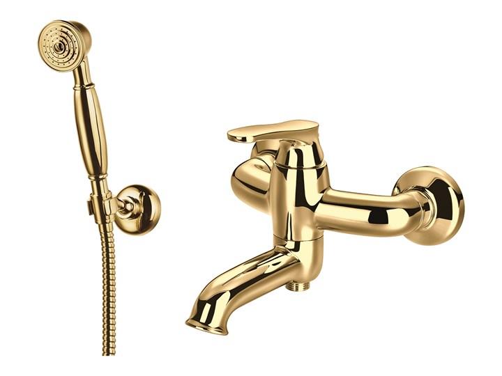 Art Deco bateria wannowo-prysznicowa ścienna złota AD5131GL