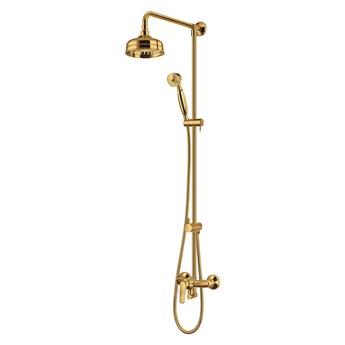 Art Deco zestaw prysznicowy ścienny złoty AD5144GL