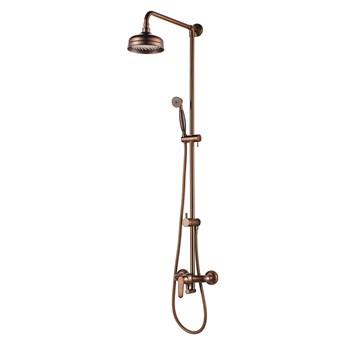 Art Deco zestaw prysznicowy ścienny miedź antyczna AD5144ORB