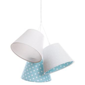 Lampa dziecięca w groszki Inzo  Niebieski