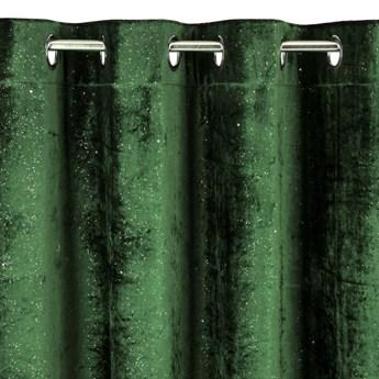 Zasłona Elegancka i Efektowna Elizia 140x250cm - Ciemny Zielony - Przelotki